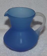 Pilgrim Handcraft Glass pitcher Blue 3 3/4 inch