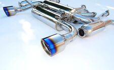 Invidia Gemini  Rolled Ti Burnt Tip Catback Exhaust For Nissan 350Z | HS02N3ZGID