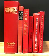 Decorative Books~Instant Library~Lot of 6 ~Red Spines