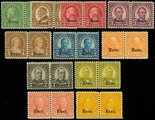 658-668, Mint F-Vf+ Og Nh Complete Set Of Kansas Pairs - Cat $943.50