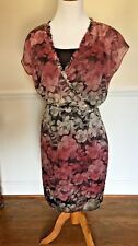 NEW Limited Cross Over Top Dress Black Floral Fully Lined  SIZE:S NWOT