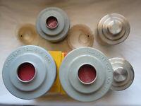 Lot of 5 Roll Film Tank Kodacraft(3) w/ 6 Apron, Nikor + 70mm reel, Japan + 35mm