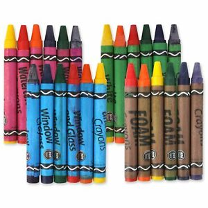 KIDS CRAYON SETS Foam EVA Watercolour Whiteboard Window Glass Pumpkin Ceramic UK
