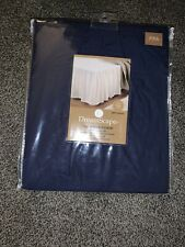 NWT DreamScape Twin Ruffled Bed Skirt 200 TC Percale RB Blue 54x75x16 Inch