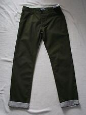 Topman Mens Youths Khaki Cotton SKINNY Chinos Trousers Size W30 L32