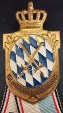 ✚7627✚ German Bavarian Warrior League Badge Medal KRIEGERVERBAND WW1 DESCHLER
