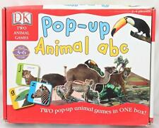 Pop Up Animal ABC Board Game 2 Games in One Bingo Alphabet Flash Cards Animals