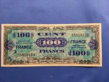 France 100 Cent Francs 1944  Military Currency Liberte Egalite Fraternite