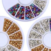 Irregular Ore 3D Nail Art Rhinestones Studs Muti-color Wheel Box Decoration Tips
