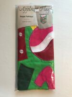 "Evergreen Happy Holidays Applique House Flag 25.5"" X 46"" Garden Christmas Winter"