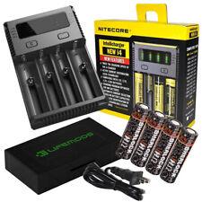 Nitecore NEW i4 Charger / 4x Sherlock Hohm 20700 3116mAh 41.6A Flat Top Battery