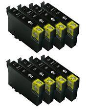 PACK BLACK 8 NEGROS COMPATIBLES GEN T1281 NON OEM BX305 BX305FW S22 SX125