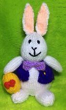 KNITTING PATTERN - Easter Bunny with egg Choc orange cover/ 18 cms Cadbury toy