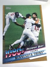 2020 Topps Decade's Best Jumbo 5x7 Minnesota Twins 59 06/10