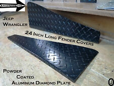 "Jeep Wrangler TJ Powder Coated Aluminum Diamond Plate 24"" Fender Tops With Bend"