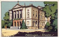 Gottingen Theater Theatre Germany Art Deco style unused old postcard
