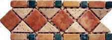 Rosone rosoni mosaici in marmo incollati su rete greca cm 30,5X12 IN MARMO