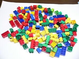 Lot of 145 Lego Duplo Bricks Blocks assorted colors