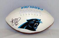 Luke Kuechly Autographed Carolina Panthers Logo Football- JSA W Authenticated