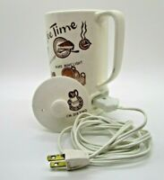 Vintage TILSO Coffee Time Ceramic Electric Coffee Hot Water Pot made in Japan