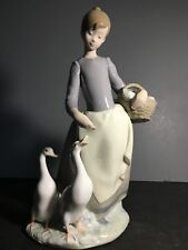 "Lladro Porcelain Figurine #1306 ""Pacing the Ducks"""