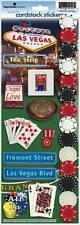 PAPER HOUSE LAS VEGAS NEVADA CASINO TRAVEL VACATION CARDSTOCK SCRAPBOOK STICKERS