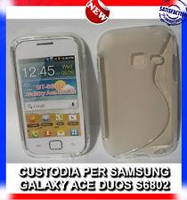 Pellicola+Custodia cover case WAVE CLEAR per Samsung Galaxy Ace Duos S6802