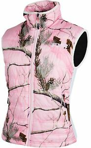 FXR WOMENS LADIES Realtree™ AP Pink BLOCK HEATER INSULATED VEST - Size 14 - NEW
