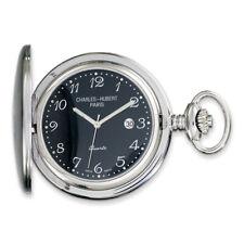 Charles Hubert Stainless Steel Black Dial Pocket Watch XWA1904