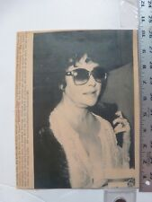 "Vintage Wire Press Photo Elizabeth Taylor With 102 Temp ""Little Foxes"" 5/6/1981"