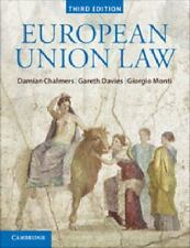 EUROPEAN UNION LAW - NEW PAPERBACK BOOK