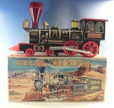 Modern Toys Japan Blech Tin Toys Giant Western Dampflok in O-Box 60erJh #1653