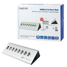 SCHNELLVERSAND ! LOGILINK USB 2.0 HUB 7 + 1x SCHNELL-LADE PORT ALUMINIUM GEHÄUSE