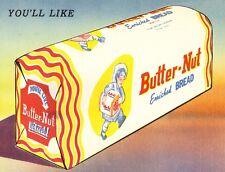 "TIN SIGN ""Butter-Nut Bread"" Food Art Deco Garage Wall Decor"