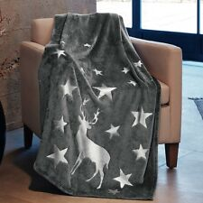 S Oliver Silver Reindeer Blanket