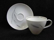 Silver Wheat by Johann Haviland Cup and Saucer Set Gray Wheat On Side b67