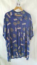 Vintage Men's Hawaiian Shirt Island-X Hawaii Xl 100% Rayon w/Station Wagon