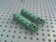Lego Slope Inverted Curved 1x6 - Teal Green x2