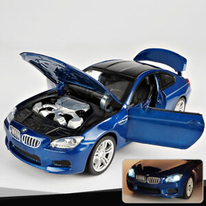 1:32 BMW M6 Metal Diecast Model Car Toy Sound&Light Pull Back Collectible Gift