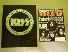 KISS 1996 1997 Alive Worldwide Tour Program Book & Entertainment Weekly Magazine
