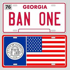BAN ONE Smokey and the Bandit and Georgia State Flag License plate set Trans Am