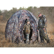 Hunting Blind 4 Person Turkey Deer Oak Tree Leaf Rifle Gun Archery Bow Ground