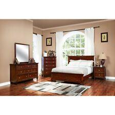 New Classic Furniture Tamarack Queen Brown Cherry 6 Piece Bedroom Set