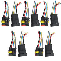 5 X 5 Pin Car Motor Waterproof Electrical Connector Plug Socket Wire Cable