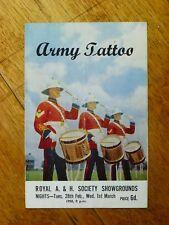 1950 Army Tattoo programme, Adelaide Showgrounds, SA