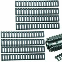 8 Pieces Heat Resistant Rifle Handguard Weaver Picatinny Ladder Rail Cover Black