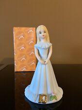 Enesco Growing Up Age 10 Blonde Figurine E-2310