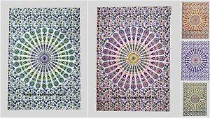 Indian Cotton Tapestry Wall Hanging Mandala Beach Throw Gypsy Bohemian Dorm Boho