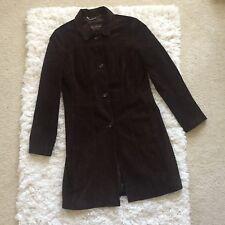Andrew Marc Womens Brown Genuine Leather Full Length Coat Size Medium Winter EUC