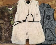 LOT OF 3 Vests Mossimo H & M Dee Elle Fur Size Small EUC!!